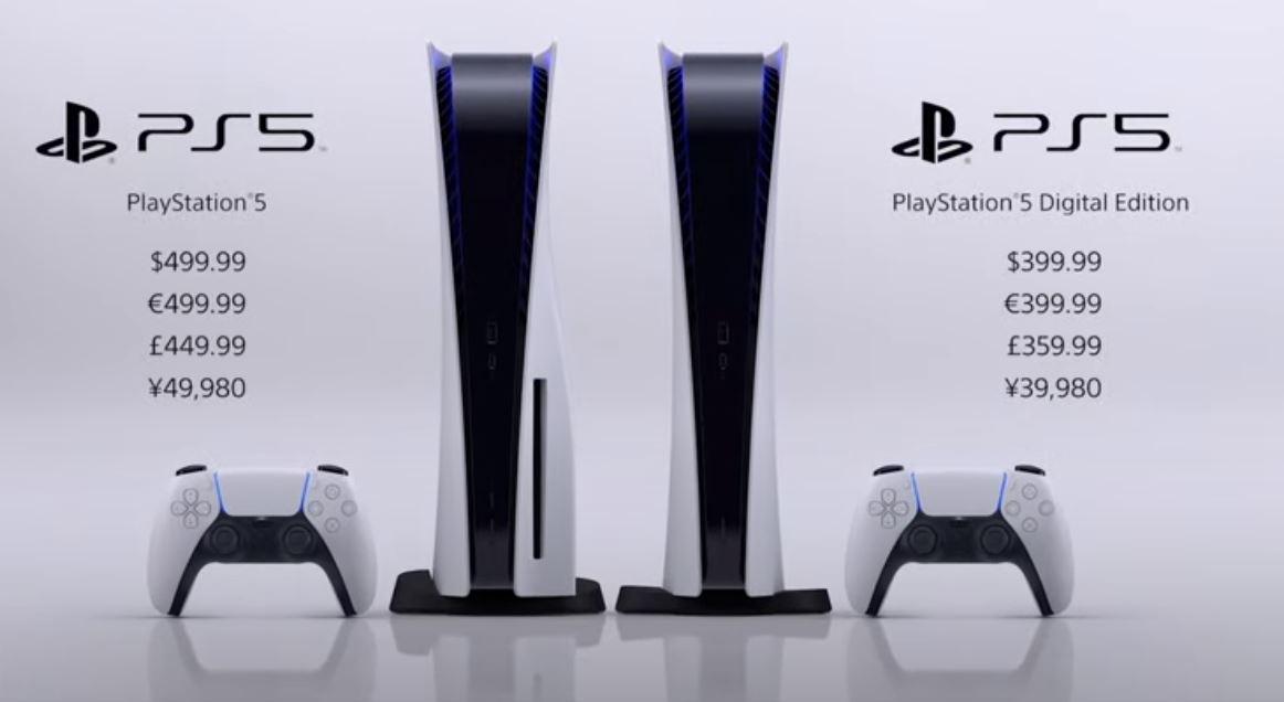 PS5 Prix de lancement